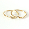 Solid 18kt Yellow Gold Natural Diamond Pearl Ring
