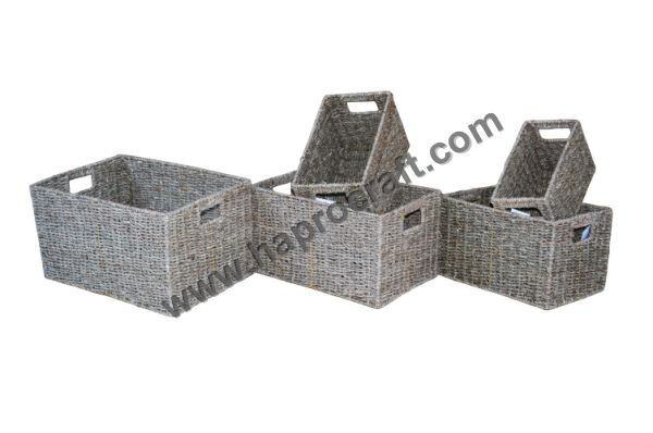 Seagrass Laundry Basket Seagrass Storage Baskets Seagrass Belly ...