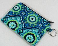 Treasure box ocean blue coin purse, credit card pouch with key ring
