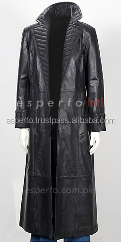 Leather Long Trench Coat Nick Fury Avengers Calf Length Trench