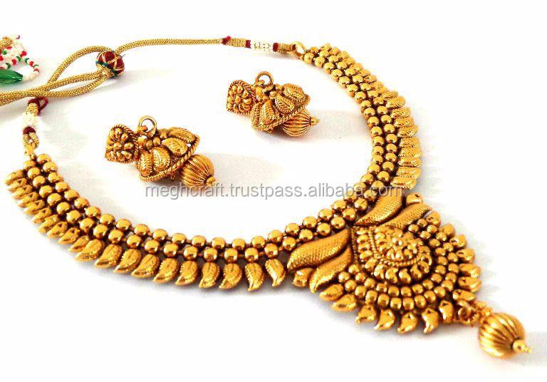 Indian Wholesale One Gram Gold Plated Jewelry Wedding Wear Jewelry