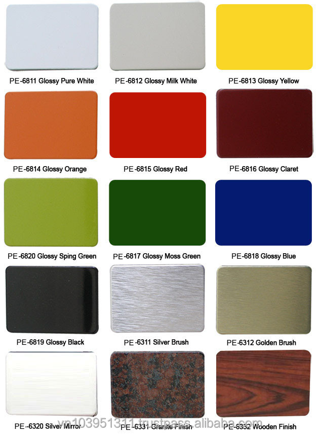 Pvdf Coated Competitive Price Aluminium Composite Panel