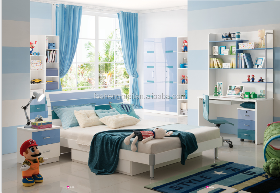 boys kids bedroom furniture queen size bed corner computer