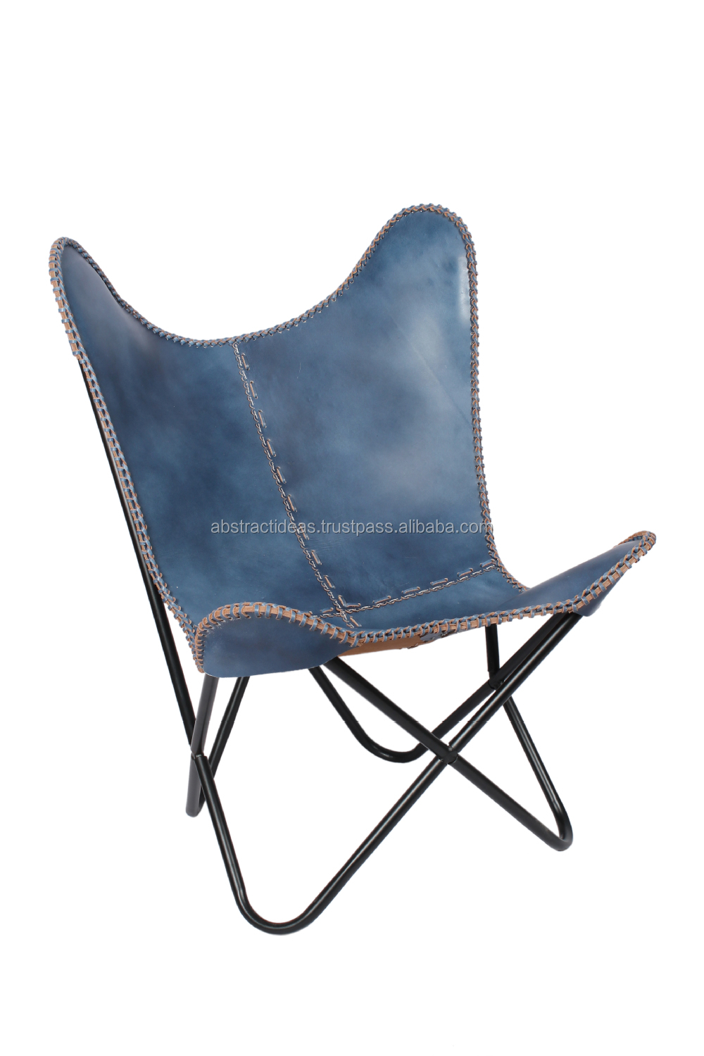 Leather butterfly chair previous next categories butterfly chair -  Iron Folded Frame Leather Butterfly Chair