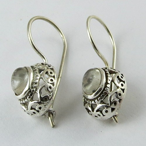 Oxidized 925 Sterling Silver Earring Whole Jewelry From India
