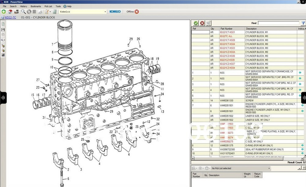 Detail Feedback Questions about Kobelco spare parts catalog
