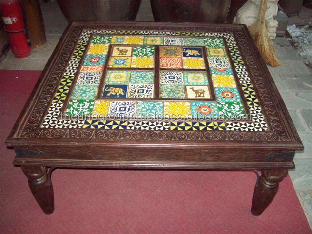 Tavolo in legno con attraente piastrelle di ceramica buy tavolo