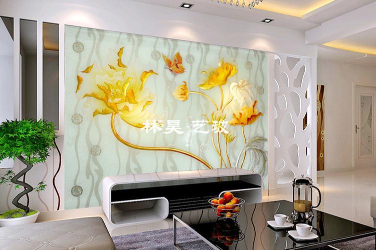 Linhao modern glass wall art decor, View restaurant wall art ...