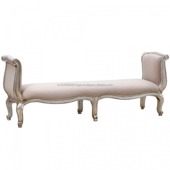 Vintage French Style Wooden Royal Lounge Chaise Sofa