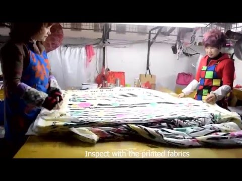 SCARF FACTORY BY VIDEO OF INSPECT THE PRINTED FABRICS LONGLAND