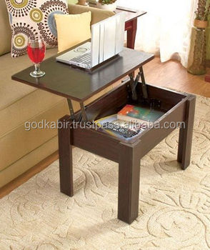 modern coffee table brown wood storage cabinet living room home