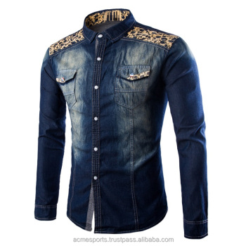 e3f0359e55 Long Sleeves denim shirts - new design 2018 shirts for men mens denim casual  shirts -
