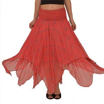 Floor Length Flare Skirt