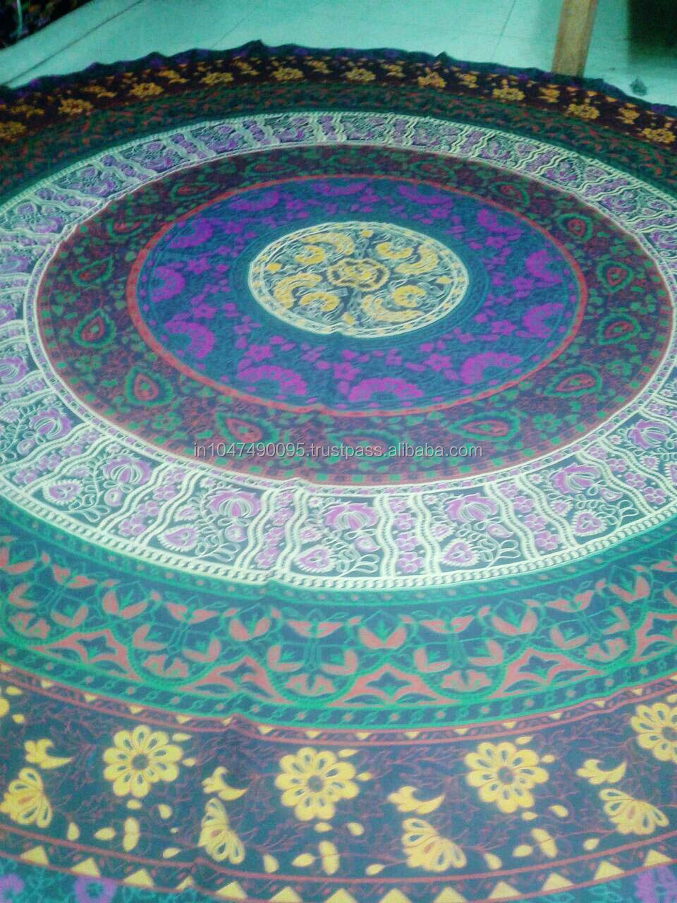 Mandala Round Beach Throw Tapestry Table Runner Bed Sheet