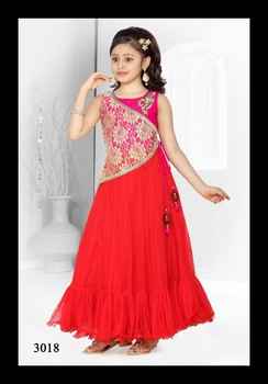 Party Wear Red Frockgown Designs For Girls Buy Kids Frocks Neck