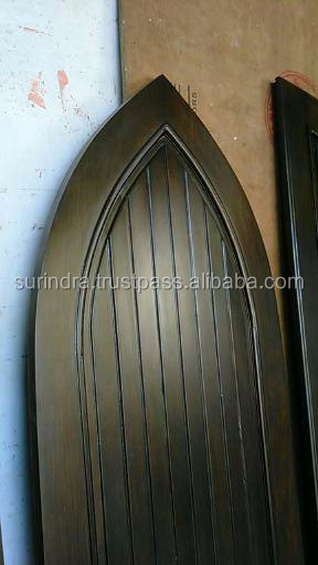 Gothic Arch Solid wood Single Door