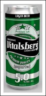 5.0% Alcohol Volume Vitalsberg Lager Beer