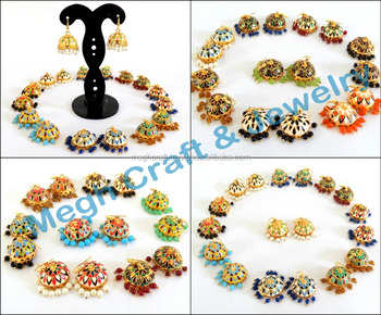 Whole Meenakari Jhumka Earring Online Party Wear Earrings Indian Costume Jewelry