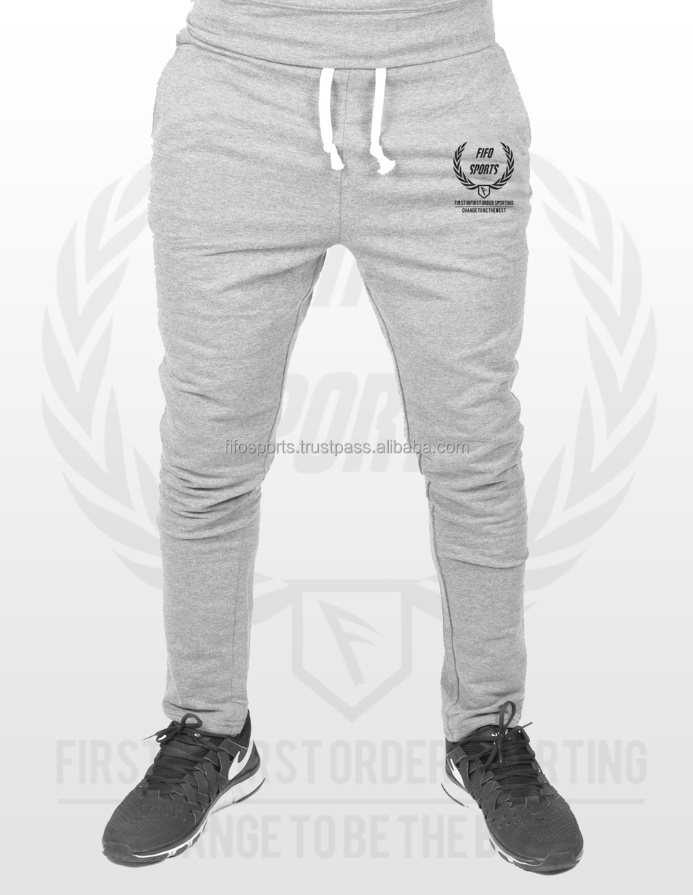 8433bf38e6 3/4 Cotton Polyester Jogger /Tracksuit / Fitness Gym / Sports /Sweat Pants  With Custom Print Logo, View 100% polyester sweat pants, Fifo Sports, As ...