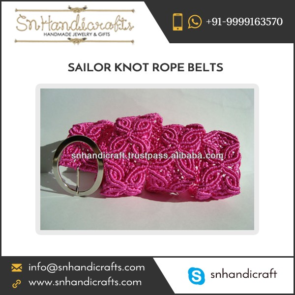 Inflatable Famous Braided Rope Belt for Women Available at Best Seller Rate