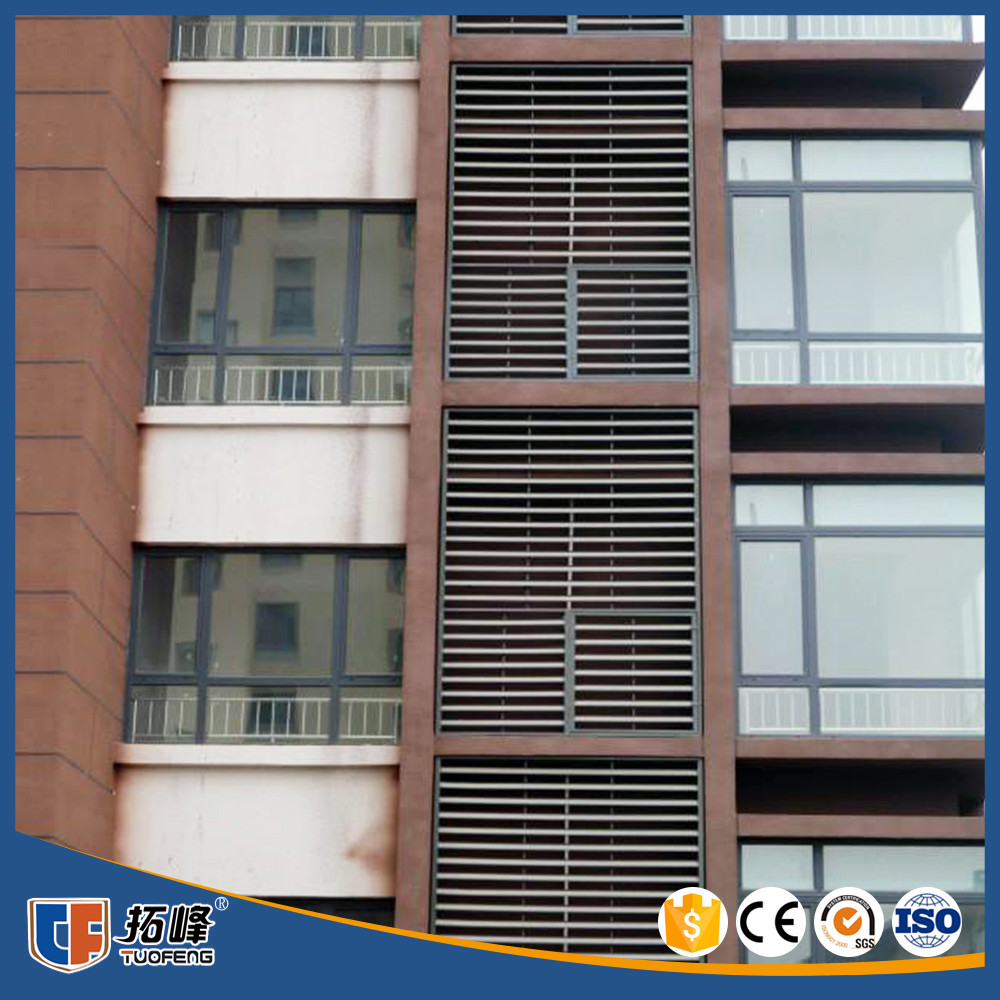 Custom height and colors commercial decorative shutter for Decorative louvers