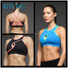 Kiteng (ODM/OEM Factory)Women Wholesale Sports Bra sexy hot girl yoga bra with hole and crisscross Office In Unite State (USA)