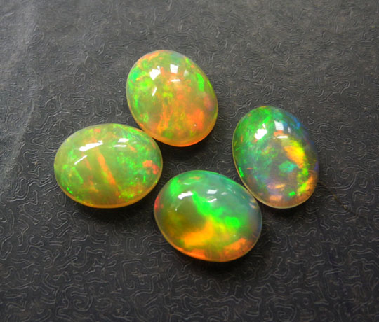 Top AAAA Quality Natural White Ethiopian Opal With Play Of Fire 57 carat Oval Cabochon Loose Gemstone
