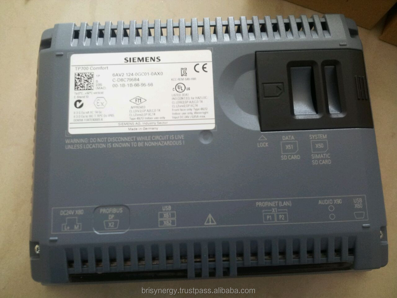 Siemens 7 Inch Hmi Human Machine Interface 6av2124 0gc01