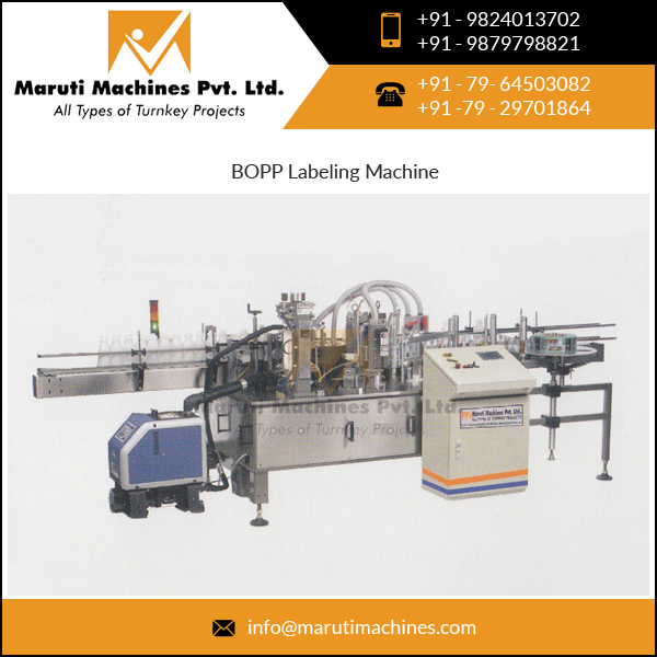 Automatic Hot melt Bopp Labeling Machine