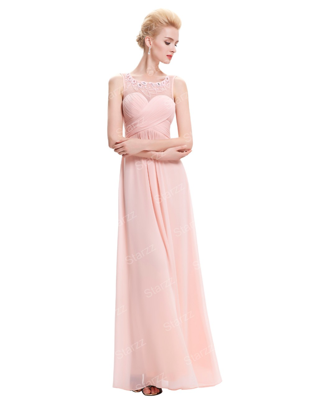 Starzz sleeveless light pink chiffon long bridesmaid dress starzz sleeveless light pink chiffon long bridesmaid dress st000060 3 ombrellifo Image collections