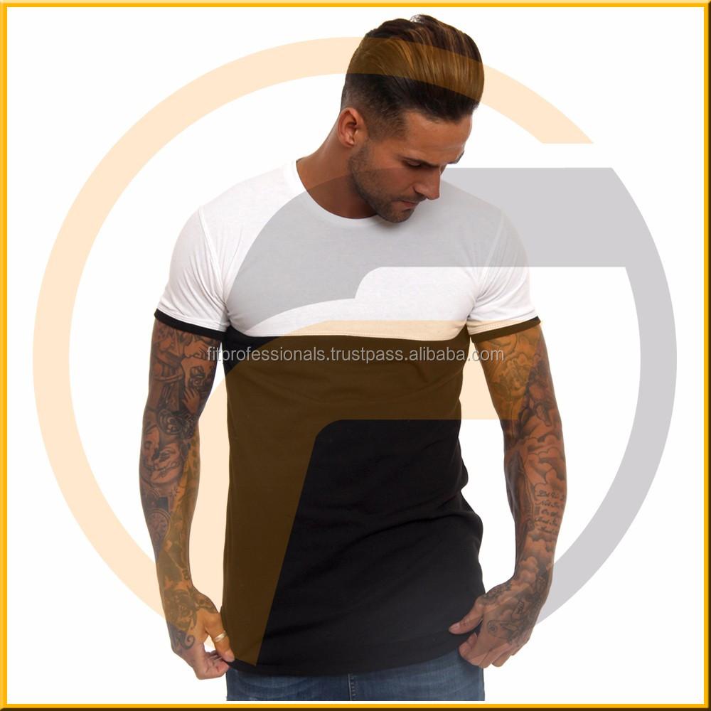 Oem Custom Drop Shoulder Oversize Long Line T Shirt Men With Raw ...
