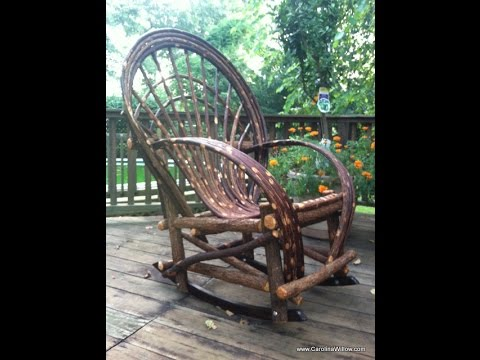Get Quotations · Twig Willow Rocking Chairs   Rustic Cabin Furniture FOR  SALE