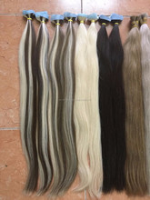 Dec 2016 color human hair extension many type of color hair 100gr/piece straight or wavy or curly hair