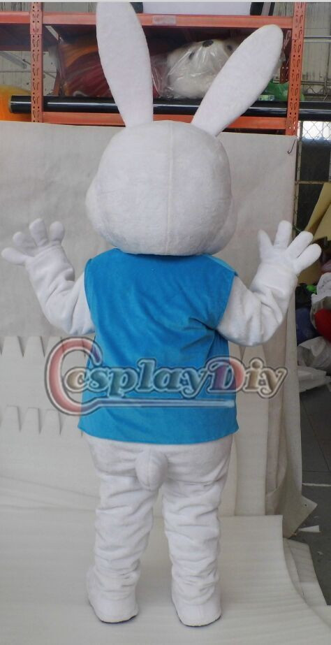 Easter Bunny Mascot Costume Bugs Rabbit Hare Cartoon Mascot Costume