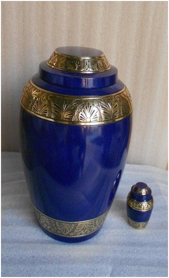New Dom-top With Blue Marble Finish Urns For Cremation - Buy Brass  Cremation Urns,Urns For Cremation,Antique Cremation Urn Product on  Alibaba com