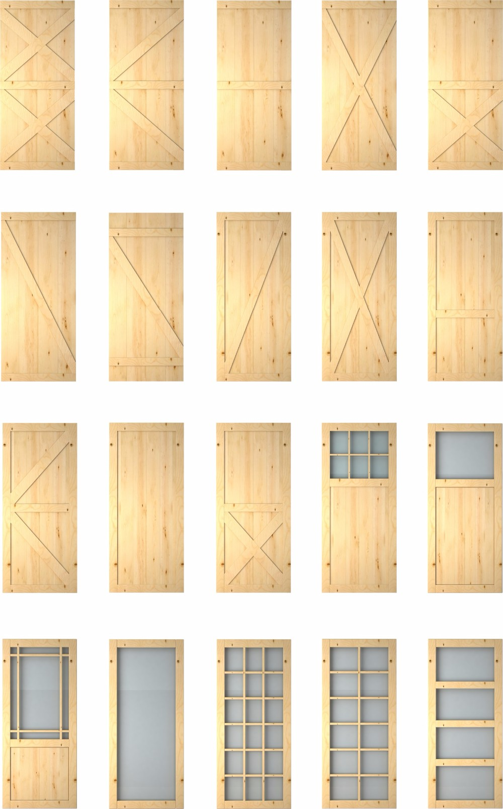 Attrayant Modern T Design 3 Panel Half Glass Solid Wood Interior Barn Door Slabs With  Sliding Door Hardware   Buy Barn Door,Barn Door Slab,Half Glass Wooden ...