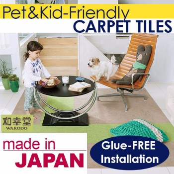 Pet-friendly Japanese Carpet Tile, Easy to place Carpet Tile, Made in Japan, MOQ 1sqm