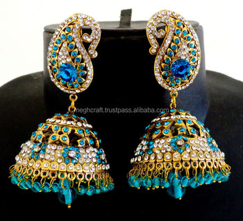 Victorian Chandelier Jhumka Earring-bollywood Long Jhumka Earring ...
