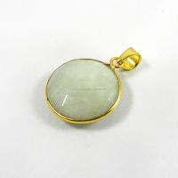 Rainbow Moonstone Pendant - Gemstone bezel Pendant - 18k Gold plated fashion jewelry - IG2924