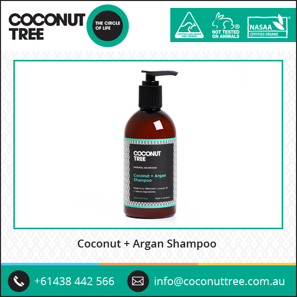 Wholesale Supplier of Organic Coconut and Argan Oil Shampoo for Dried & Damaged Hair