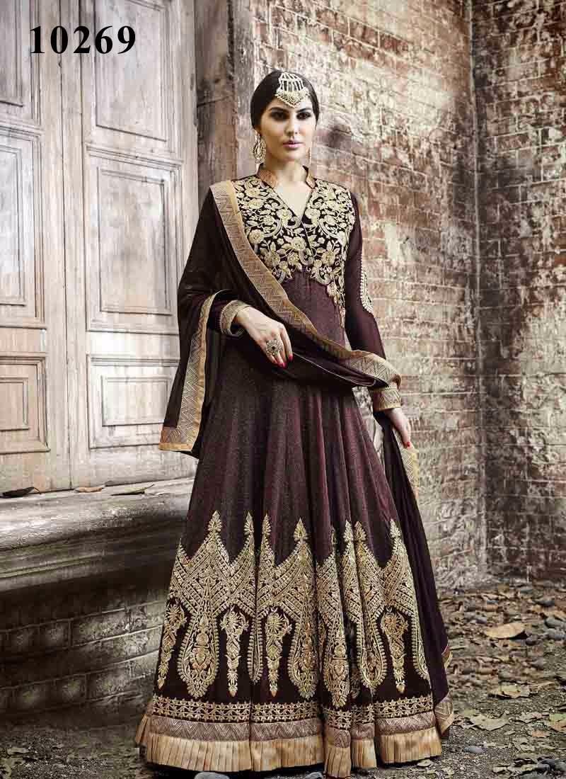 Designer Hand Embroided Anarkali Suit   Salwar Kameez Designs For ...