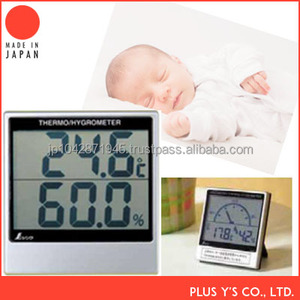 Wall Thermometer Digital Hygrometer with Alkaline battery Made in Japan