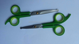2 PCS pet grooming scissors set ABS Plastic Handle round tip dog grooming scissors set