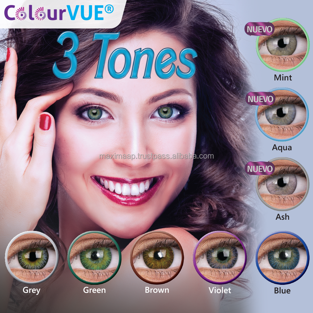 Factory Supplier ColourVUE Bright Contact Lens natural coloured lens FDA approved