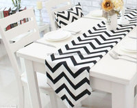 Black and White Sale!!! New Modern Black Chevron Print Table Runner + 2x Cushion Covers Set : Dining Table, Kitchen Table Outdor