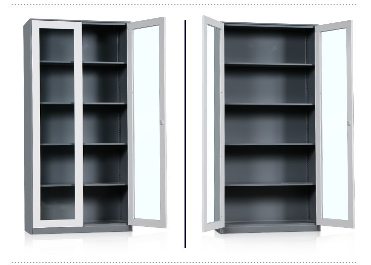 Used library stainless steel sliding glass door storage cabinets ...