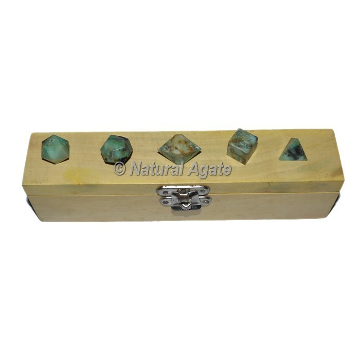 Green Budd Stone 5pcs Sacred Geometry Set
