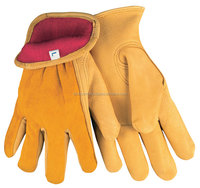 Full Fleece Lined Winter Leather Driver Work Gloves/Best quality by taidoc