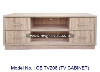 Modern Wooden Tv Cabinet With Drawers, Small Tv Stand With Showcase, Simple  Living Room