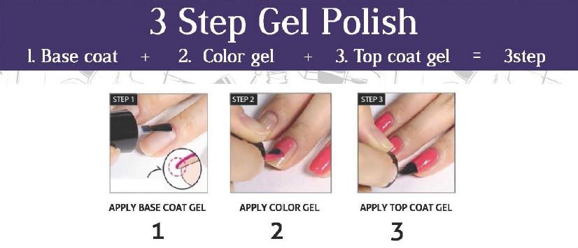 Val Usa Manufactrer 3 Step Color Gel Nail Gel Polish - Buy Three ...
